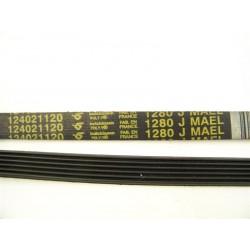 1280 J6 MAEL courroie HUTCHINSON pour lave linge