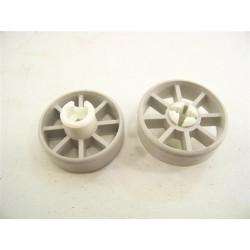 96X1064 BRANDT FAGOR n°19 roulette pour panier inférieur pour lave vaisselle