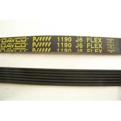 1190 J6 courroie DAYCO pour lave linge