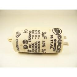 FAGOR LFF-014X n°6 Condensateur 3µF de démarrage pour lave vaisselle