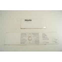 MIELE T237C n°20 bandeau pour sèche linge
