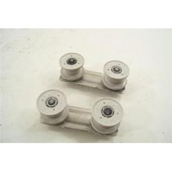 31X6370 FAGOR BRANDT n°36 roulette de rail supérieur pour lave vaisselle