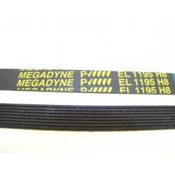 EL 1195 H8 courroie MEGADINE pour lave linge