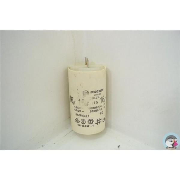 33914 indesit wit60fr n 44 condensateur 16µf lave linge