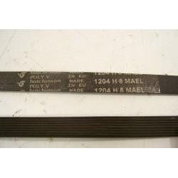 1204 H8 MAEL courroie HUTCHINSON pour lave linge