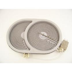 foyer radiant 2400 W / 1500W n°28 pour plaque vitrocéramique