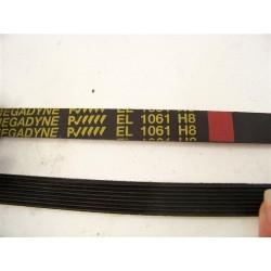 C00082812 EL 1061 H8 courroie megadyne pour lave linge