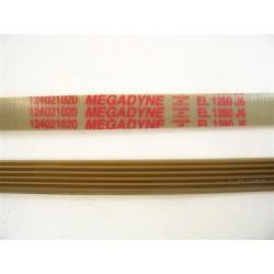 124021020 EL 1280 J6 courroie megadyne pour lave linge