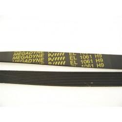 C00095888 EL 1061 H9 courroie megadyne pour lave linge