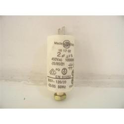 C00042602 ARISTON INDESIT n°32 condensateur 2µF pour sèche linge