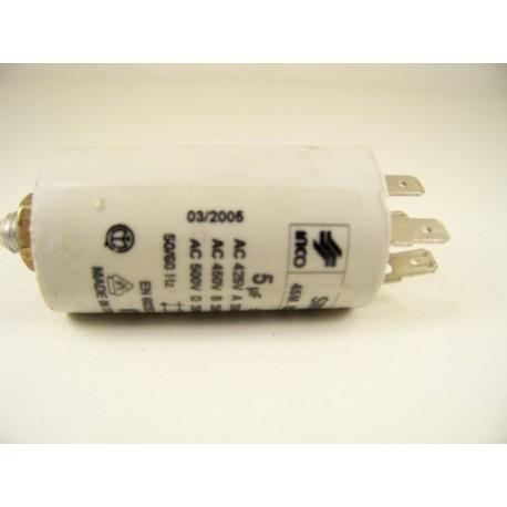 C00105360 SCHOLTES LVI12 n°9 Condensateur 5µF de démarrage pour lave vaisselle