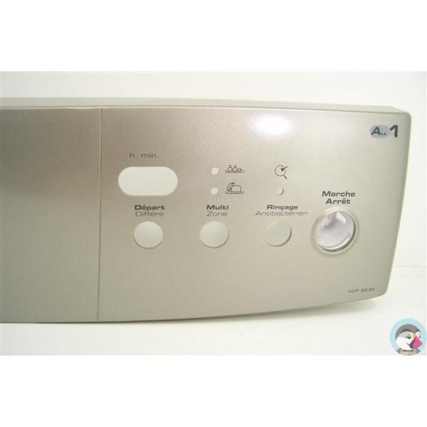 480140100438 whirlpool adp6638 n 20 bandeau de commande d