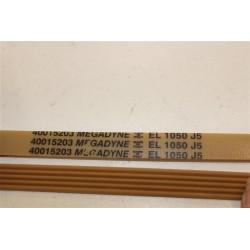 40015203 EL 1050 J5 courroie MEGADYNE pour lave linge