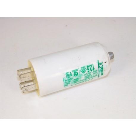 92213420 CANDY CE621T n°9 condensateur 12.5µF lave linge