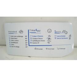 C00116528 INDESIT WIE12FR N°54 façade de Boîte à produit pour lave linge