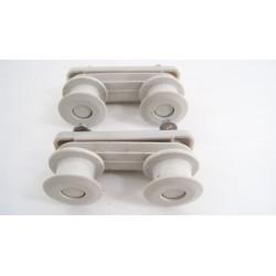91670988 HOOVER HND915 N°4 Roue support glissière pour panier supérieur pour lave vaisselle