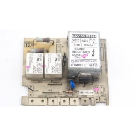 55X9144 BRANDT WTC0814F n°20 module de puissance pour lave linge