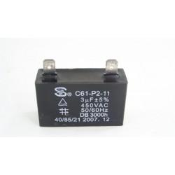 32000360 CANDY CEDS20W47 n°113 Condensateur de démarrage 3µF pour lave vaisselle