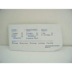 C00096873 INDESIT WI10FR N°79 Façade de boite à produit de lave linge