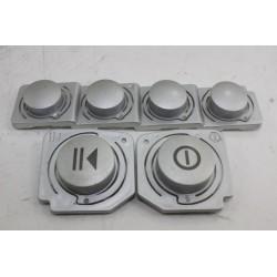LG F14030RD n°114 lot de bouton touche pour lave linge