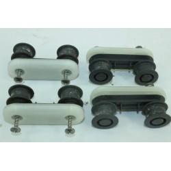 4055260790 ELECTROLUX ESF5525LOX n°44 kit support roulettes de panier pour lave vaisselle