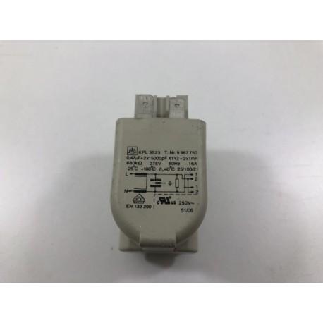 5867750 MIELE W254 N°215 Filtre antiparasite pour lave linge