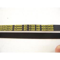 40015459 EL 1185 H8 courroie megadyne pour lave linge